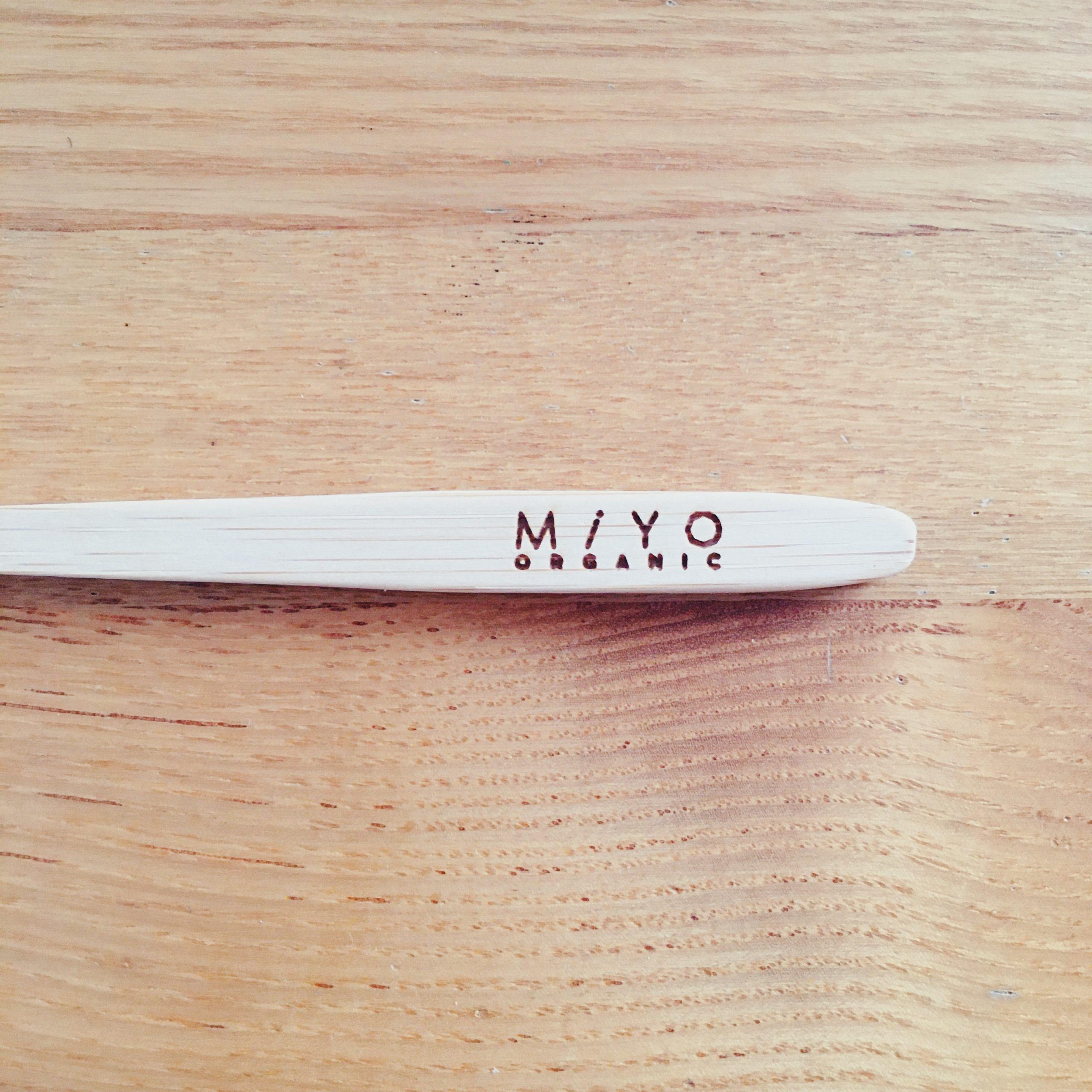 MiYo ORGANIC JAPAN Japanese ethical bland bamboo teethbrush 歯磨き 歯ブラシ 竹